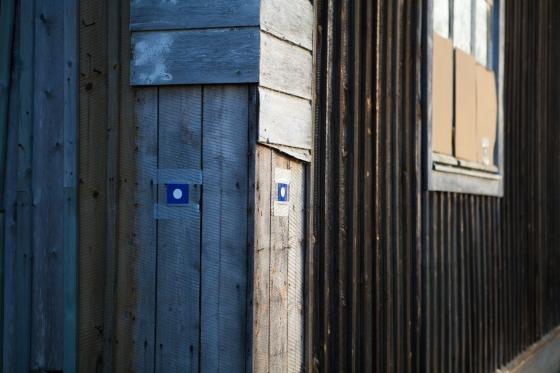 seinään kiinnitettiin referenssipisteitä